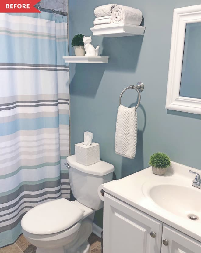 Before and After: This $400 Bathroom Redo Is Made of 8 Super Easy Elements