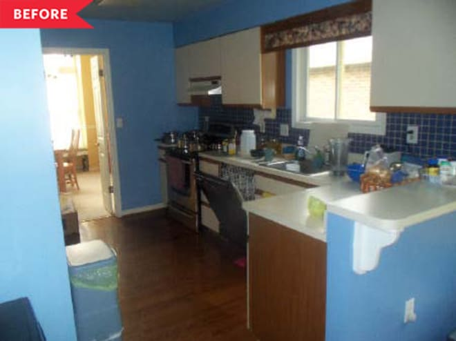 Before and After: Two Months and $6000 Later, This Kitchen's Unrecognizable