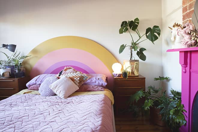 6 DIY Rainbow Headboards That Will Make Your Bedroom as Extra as You Are