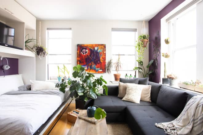 A Plethora of Plants (and Custom Murphy Bed) Makes This 280 ...