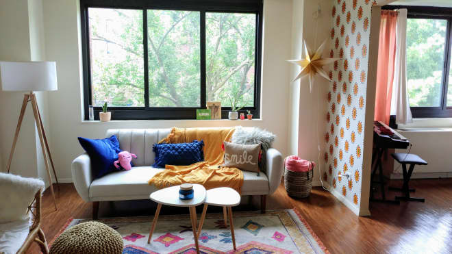 """This 500-Square-Foot """"Mid-Century Mexican"""" Style Studio Apartment Is Like a Cool Dorm for Grown-Ups"""