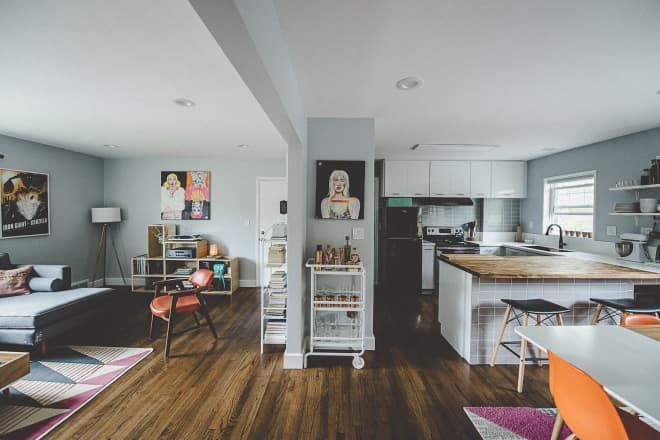 This Renter Convinced Her Landlord to Remodel and the Result is a Modern and Stylish Apartment