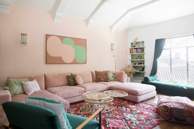 A Cool California Rental Is Bursting with Color and DIY Inspiration