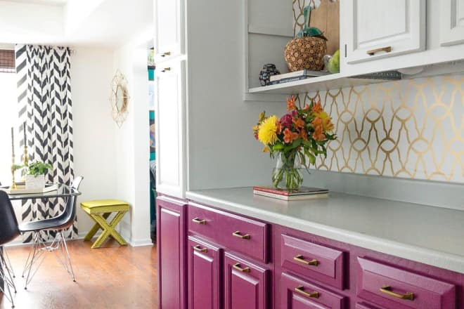 This Colorful Home's $250 Kitchen Refresh Isn't Even the Boldest Room in the House