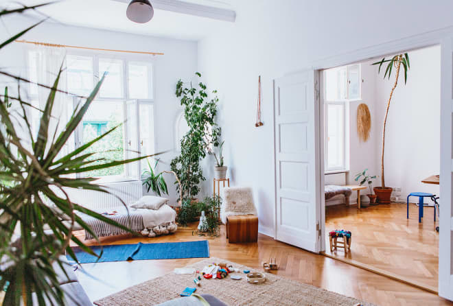 There Are 45+ Houseplants in This Gorgeous 'Minimal Jungle' Berlin Flat