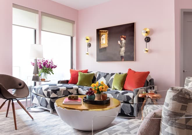 Every Room in This Apartment Is Gorgeous, But the Pink Kitchen Is Just Perfect