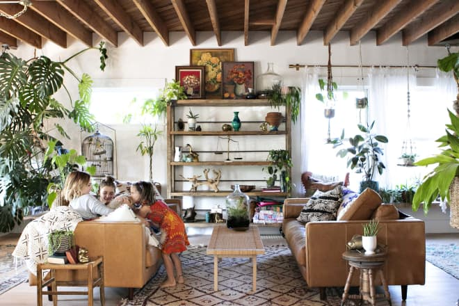 A Dated, Dilapidated Building Is Now a Bright and Boho Dream House