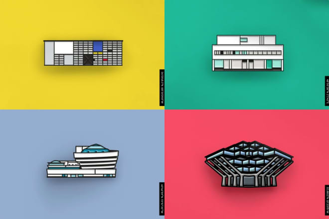Rep Your Favorite Famous Buildings with These Architectural Enamel Pins