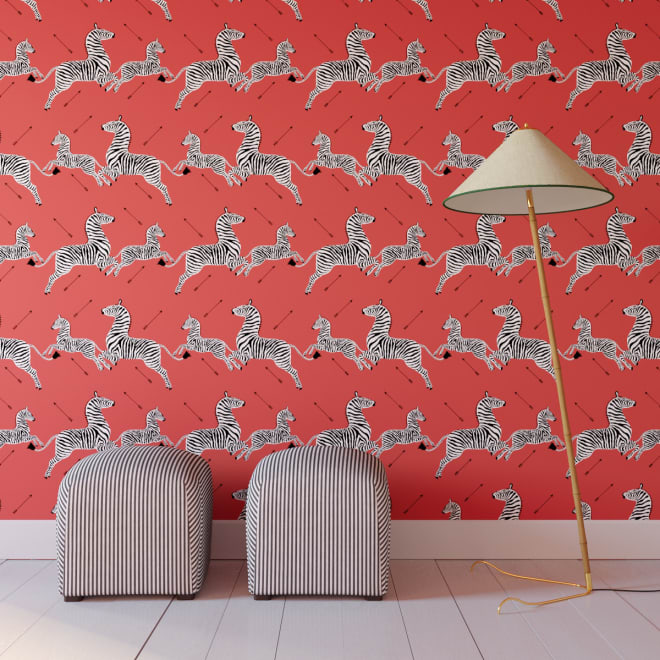 The Zebra-Print Wallpaper from The Royal Tenenbaums Is Now Available in Peel-and-Stick Form
