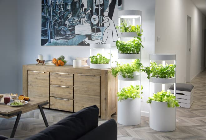 This Indoor Gardening System Stacks to Take Up Less Space