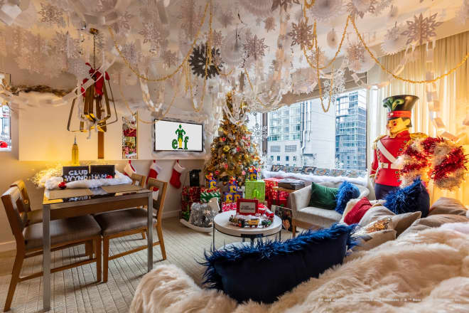 Buddy the Elf Would Approve of This Over-the-Top Holiday Hotel Suite