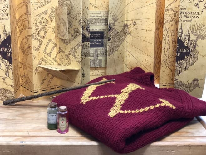 This Etsy Shop Sells Hand-Knit Weasley Sweaters in Adult, Baby, and Christmas Ornament Sizes