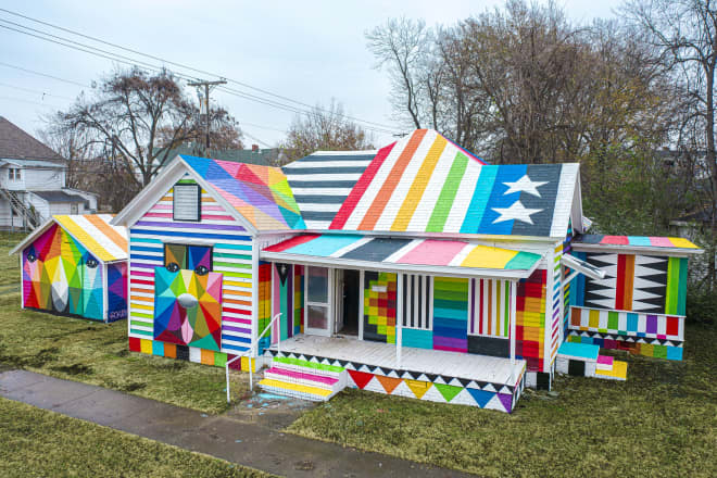 "One Artist Took an Abandoned Building and Renovated It Into a Communal ""Rainbow Embassy"""