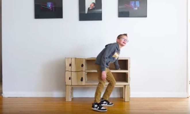 Carpenter Dad Turns His Kid's Drawing into a Real-Life Piece of Furniture