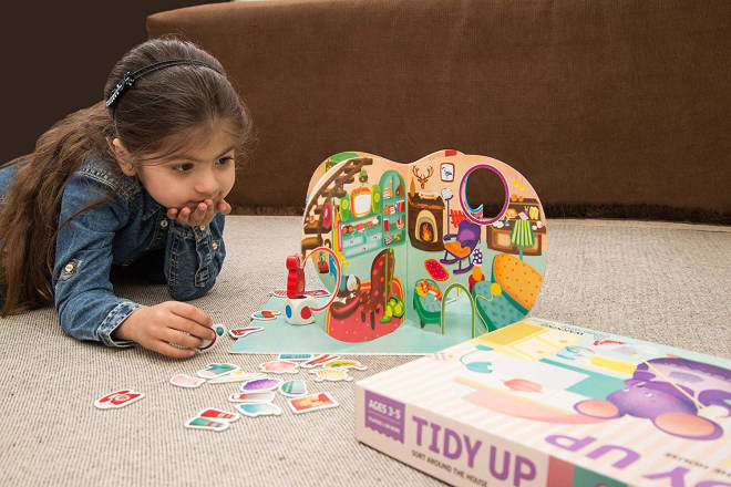 There's a Tidying-Themed Board Game for Kids Featuring a House of Cluttered Mice