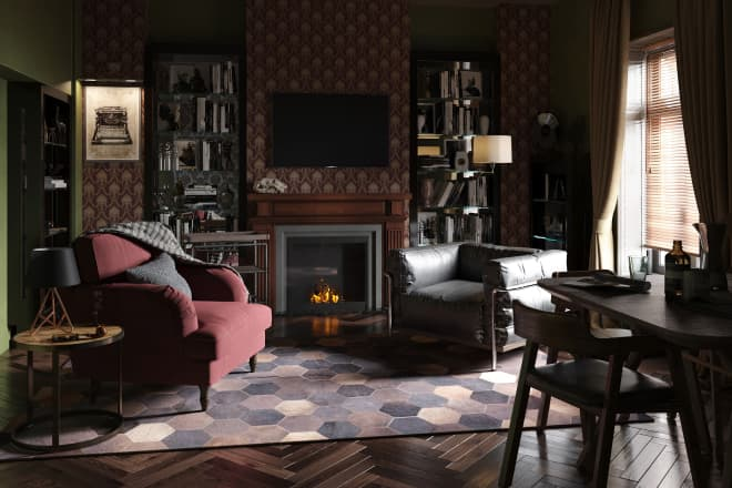 Rooms from Classic British Movies and TV Shows, Reimagined