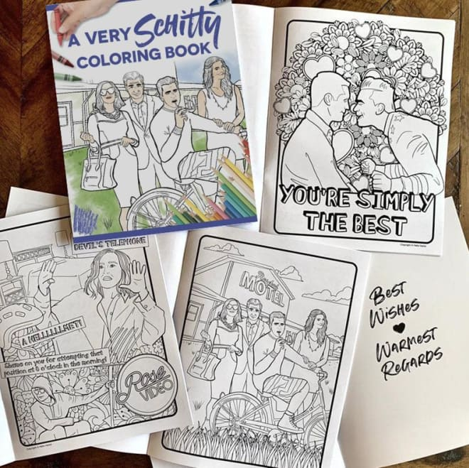 """This """"Schitt's Creek"""" Coloring Book on Etsy is Simply the Best"""