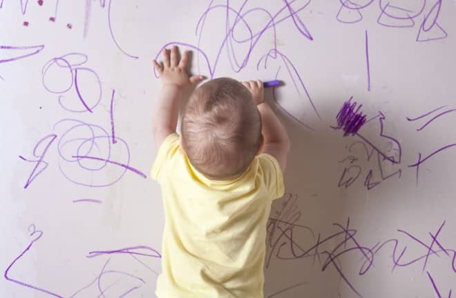 The Secret to Removing Crayon from Walls is Already in Your Fridge