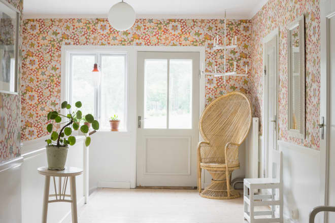 When It's OK to Paint Over Wallpaper (and How to Do It Right)
