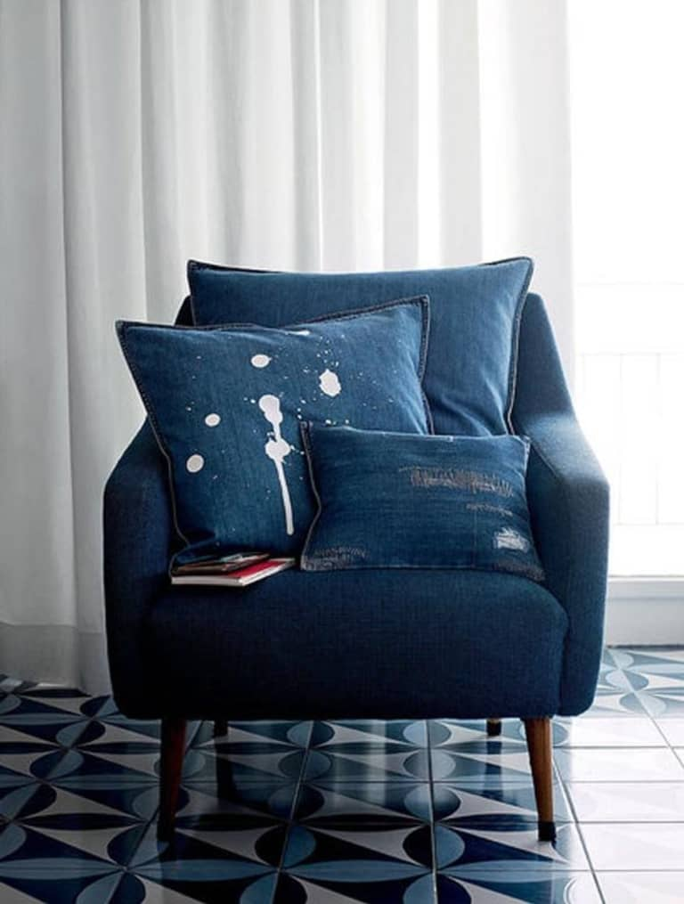 Rooms Decorated With Denim Apartment Therapy