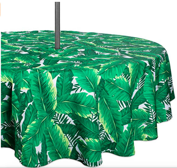 Palm Leaf Tablecloth, from Amazon