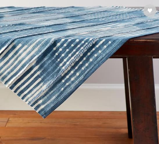 Shibori Diamond Tablecloth, from Pottery Barn