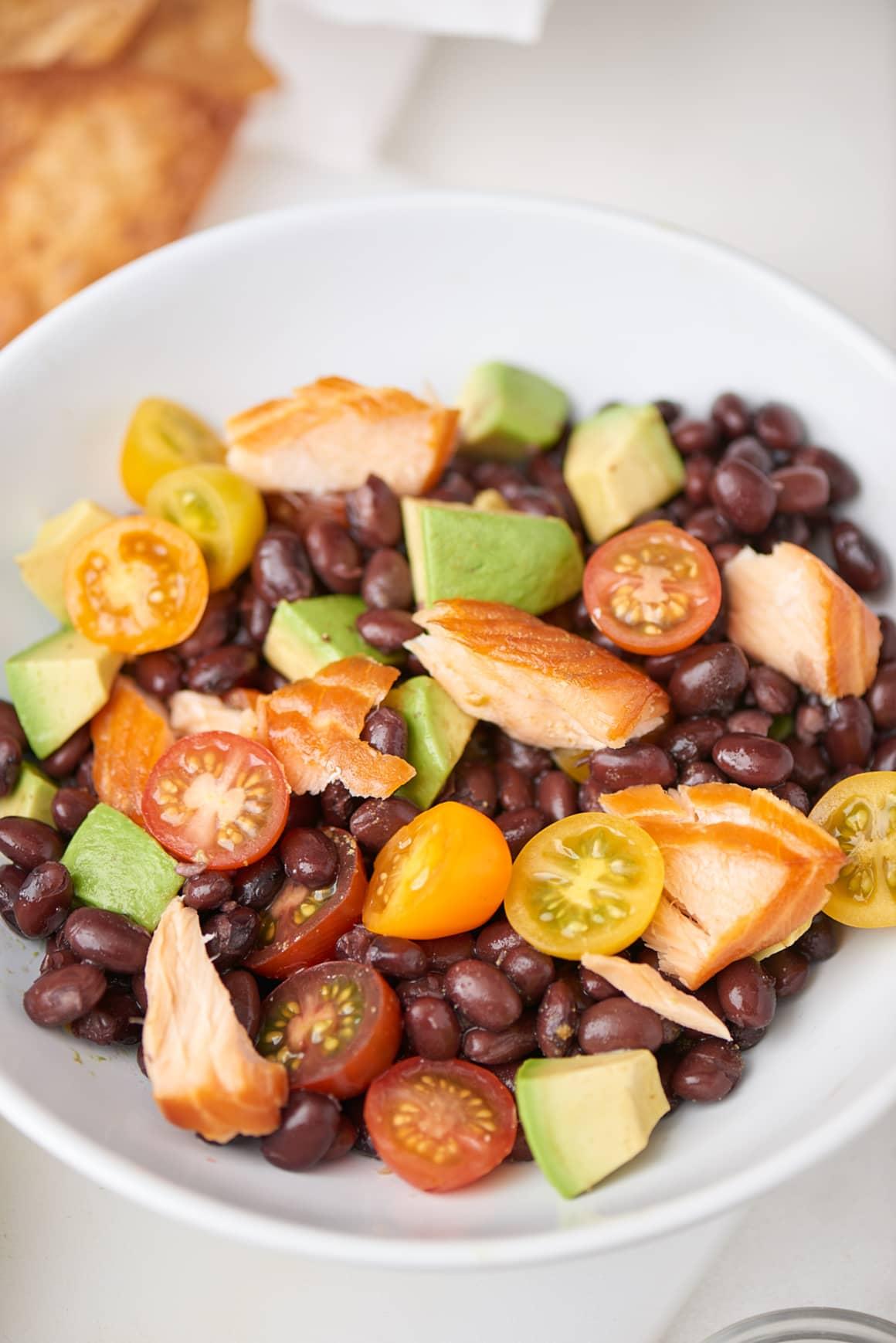 Spicy Salmon Black Bean Salad