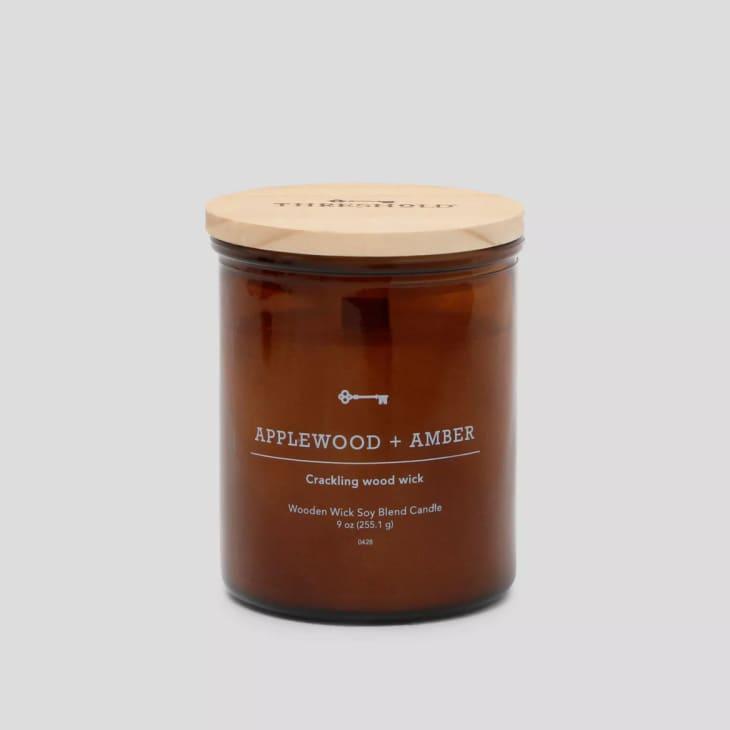 产品形象:门槛苹果木+琥珀蜡烛