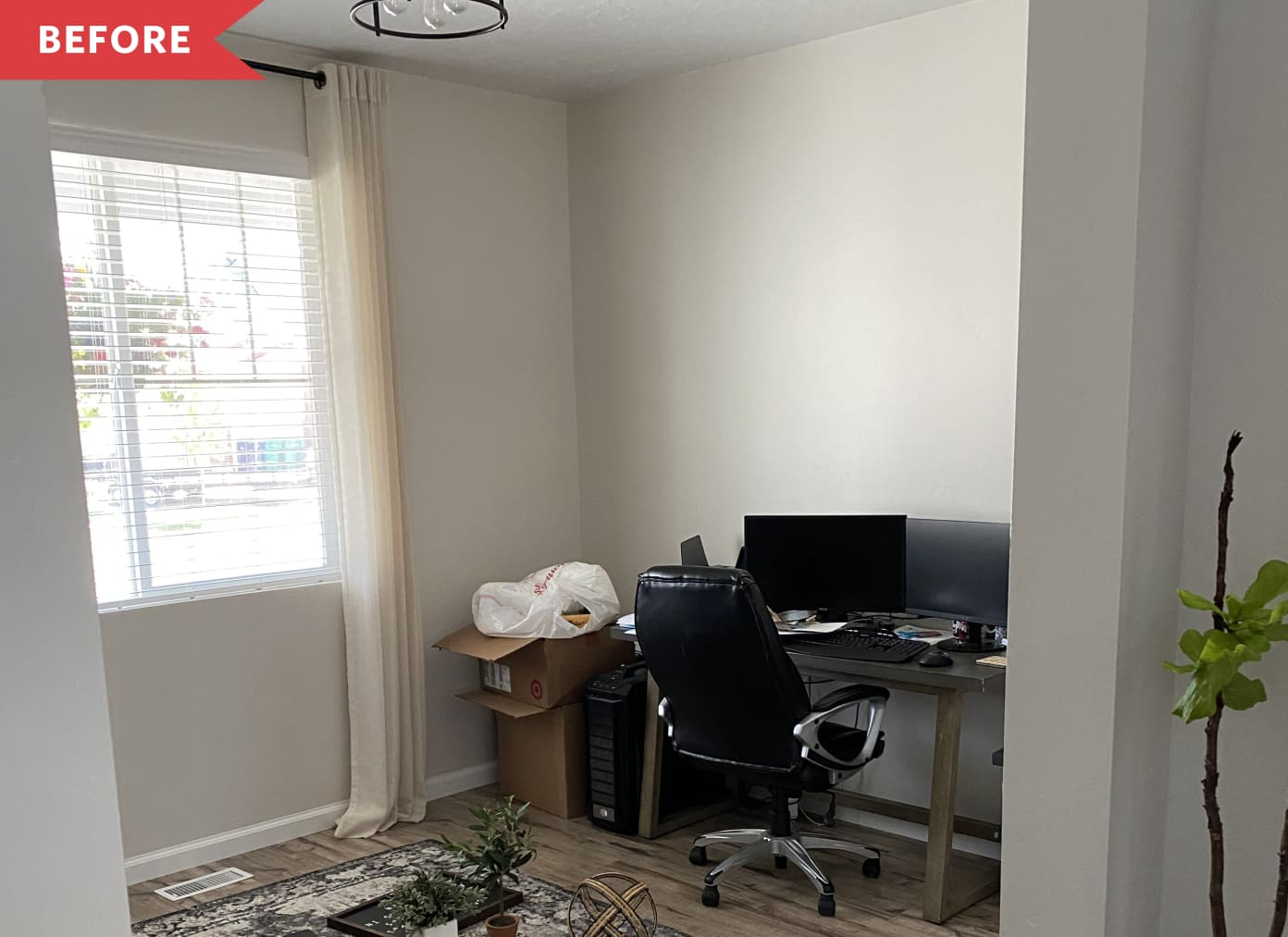 Before and After: This Dramatic, IKEA Hacked Home Office Redo Will Inspire You