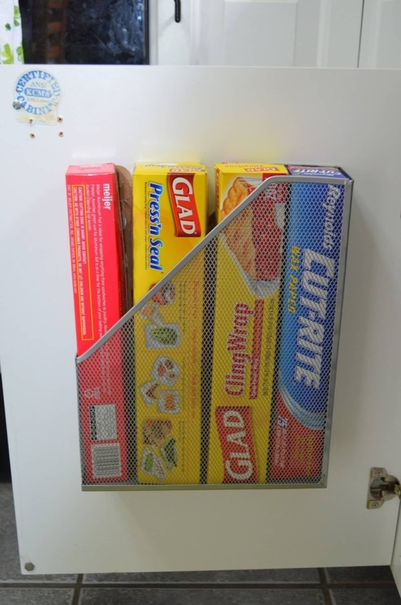 magazine rack pantry organization