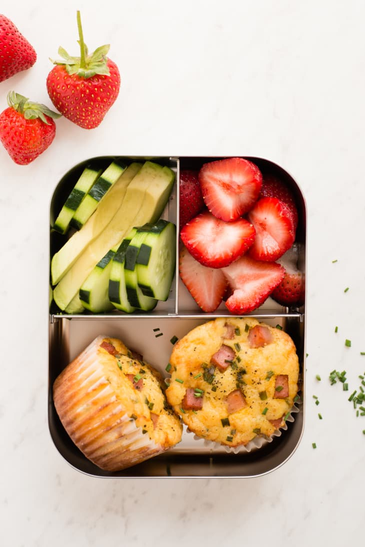 Ham and Cheddar Lunch Box Muffins