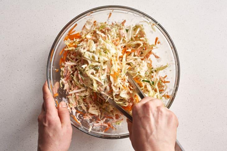 Coleslaw - Mixing