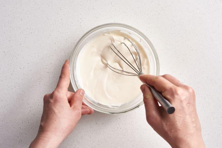 Coleslaw - Preparing dressing