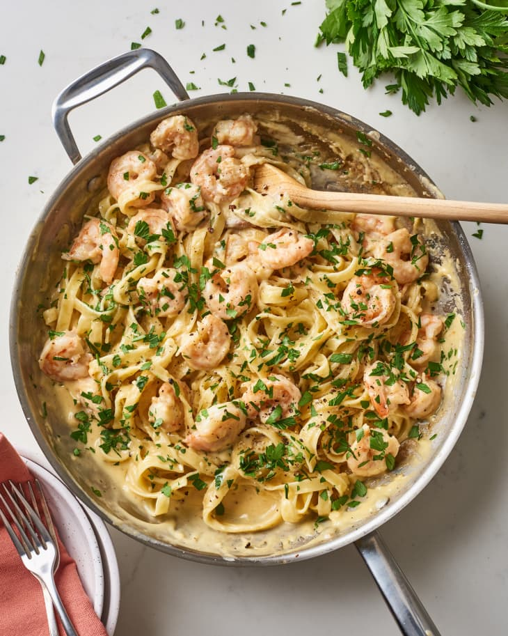 Rank 9 in Best Alfredo shrimp pasta recipe with calories and ingredients list