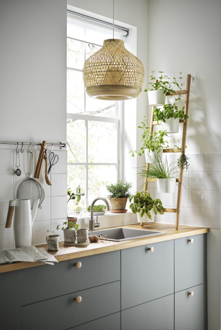 Kitchen sink by window