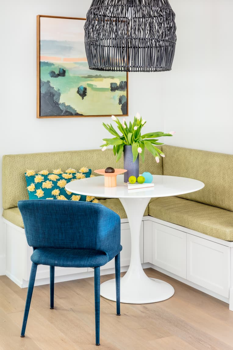 Breakfast nook by Caitlin Murray of Black Lacquer Designs