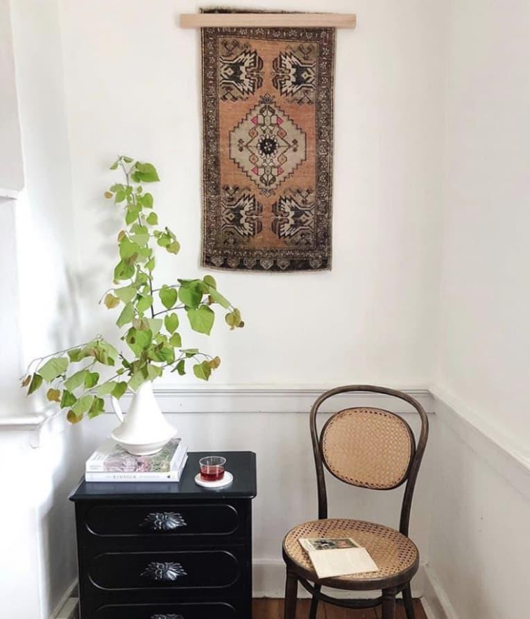 District Loom Rug as Wall Art