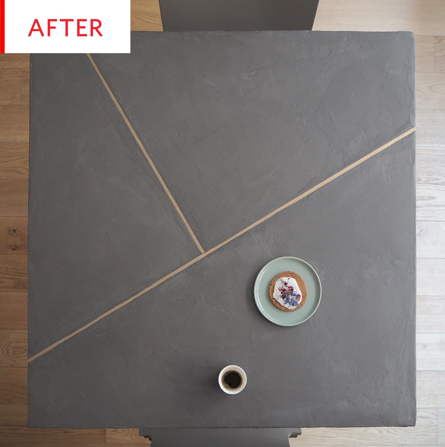 Ikea Table Hack Diy Concrete Brass Rods Apartment Therapy