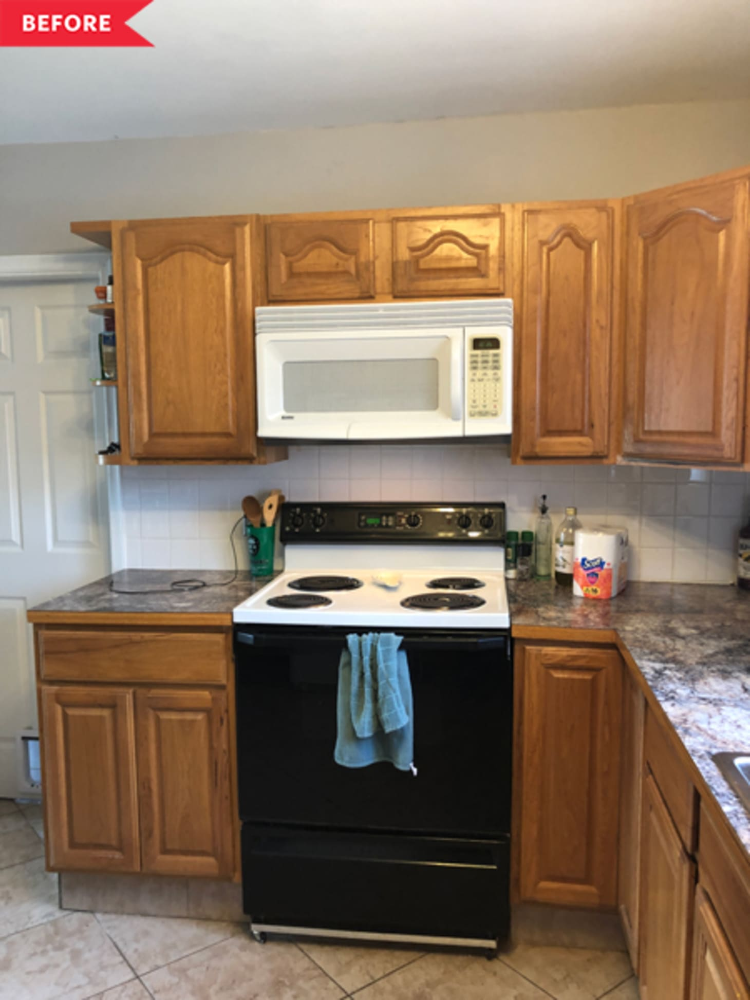 Budget Diy Kitchen Makeover Painted Cabinets Kitchn