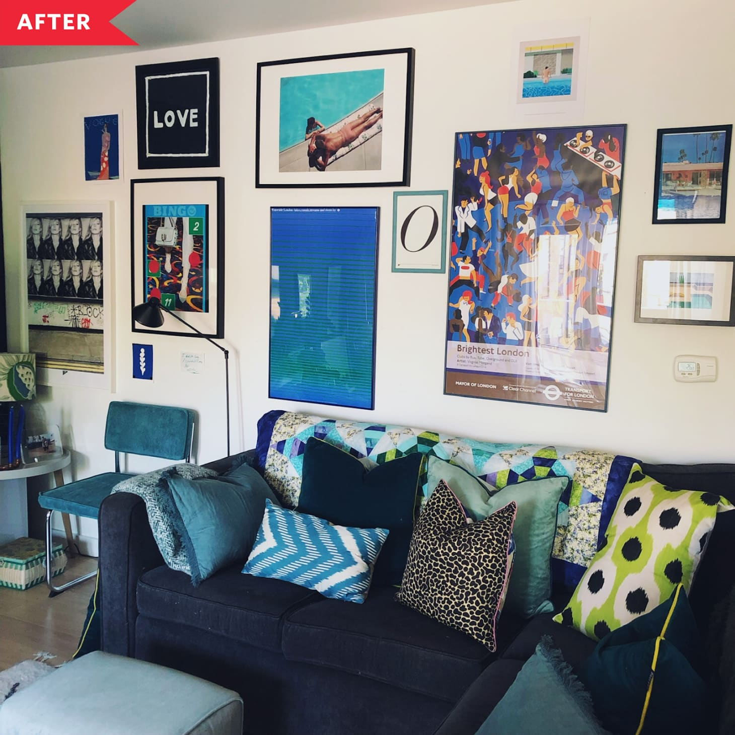 amusing plain white living room | Before and After: A Plain White Living Room Gets Lots More ...