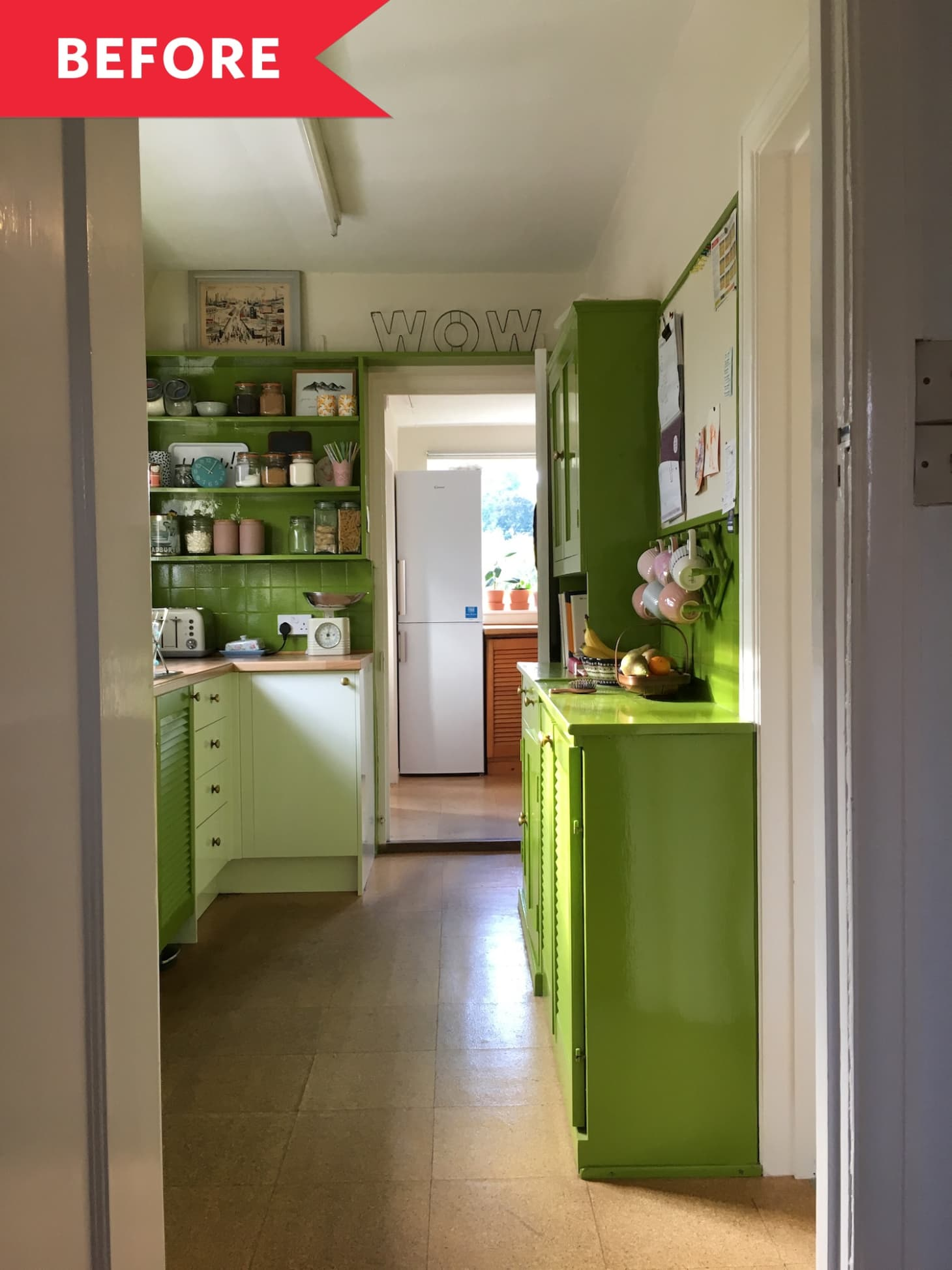 Before and After: Blue and White Makeover for Vintage Green ...