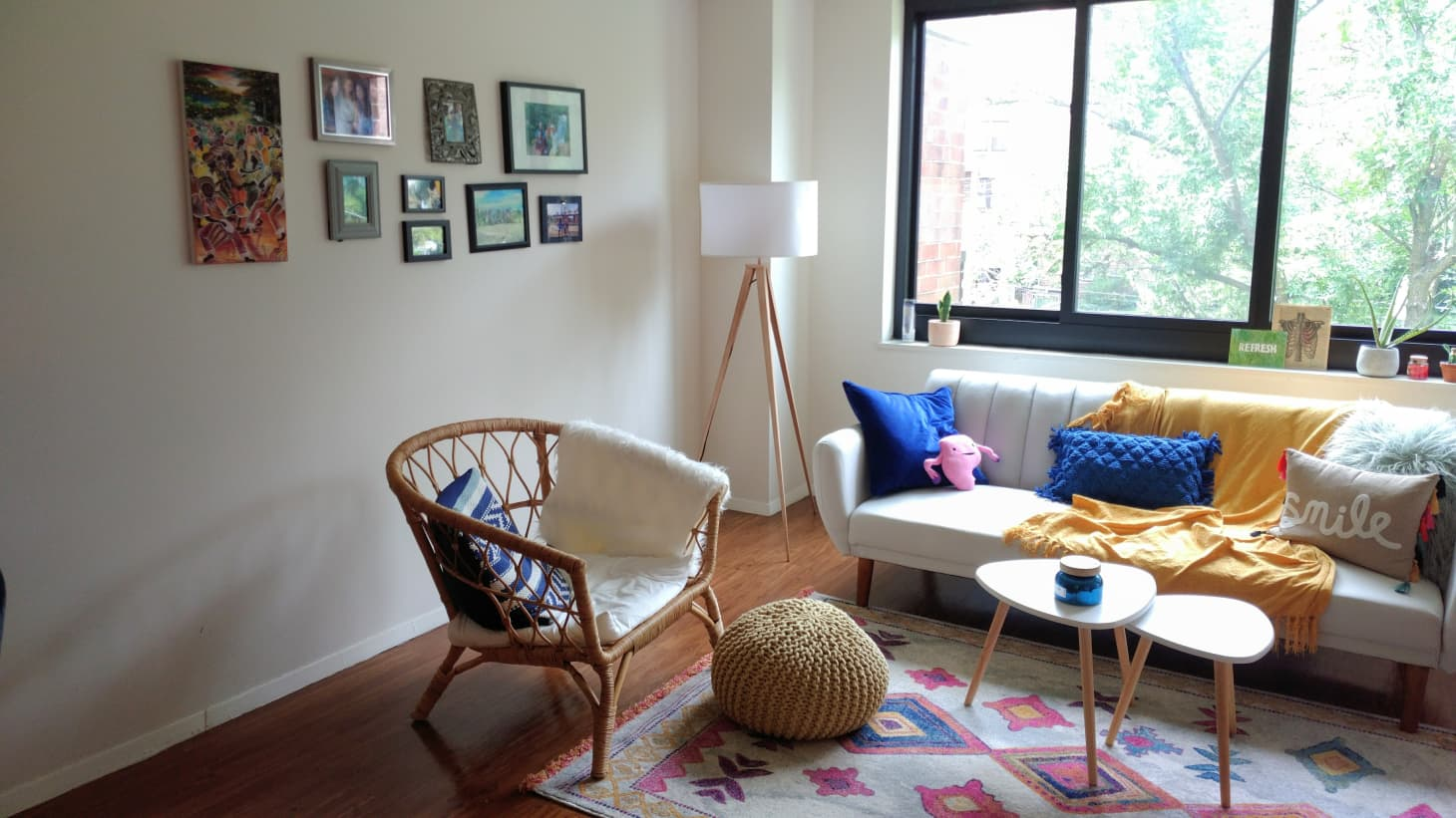 Cute and Colorful Small Studio Apartment Tour   Apartment ...