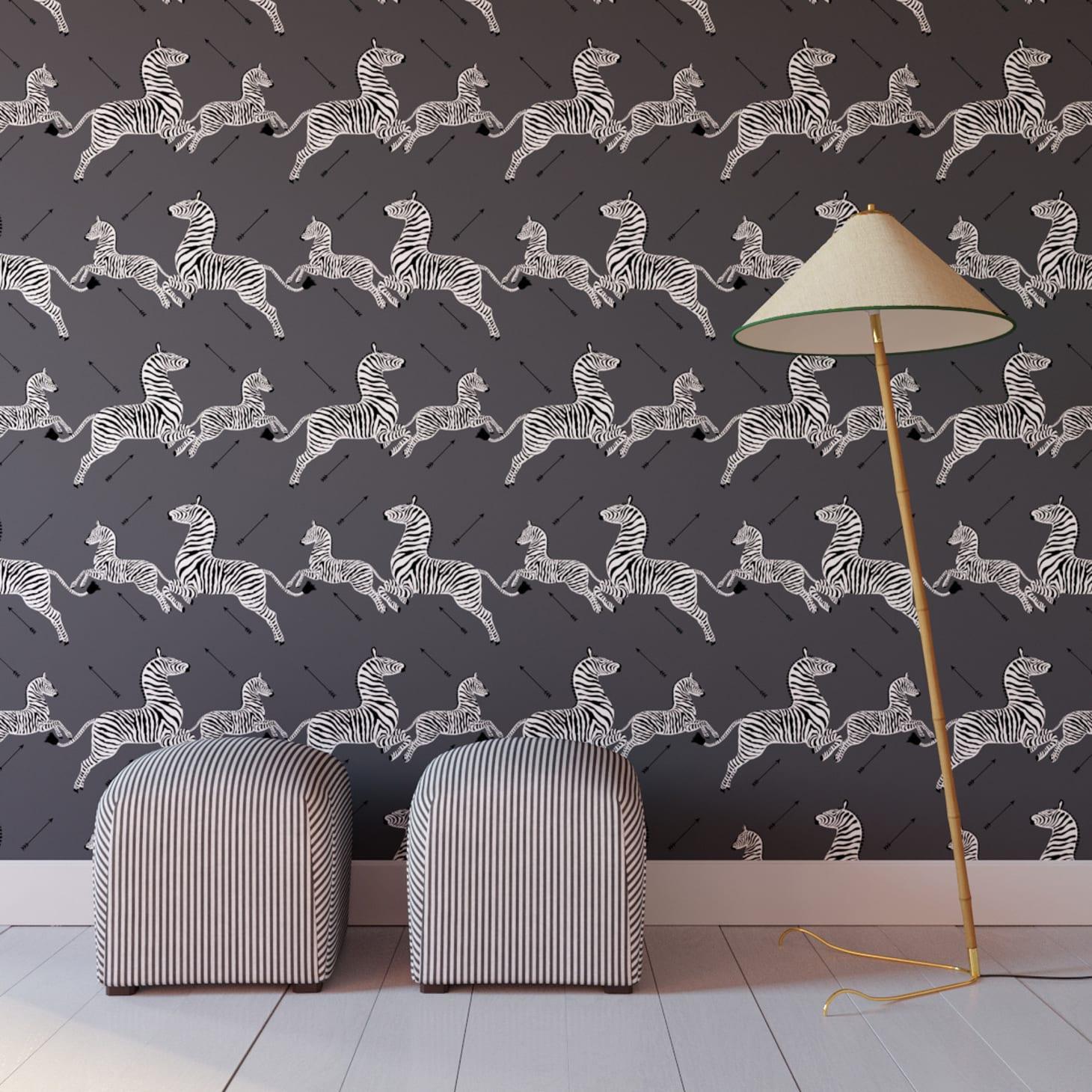 Royal Tenenbaums Zebra Wallpaper Peel-and-Stick Scalamandre ...