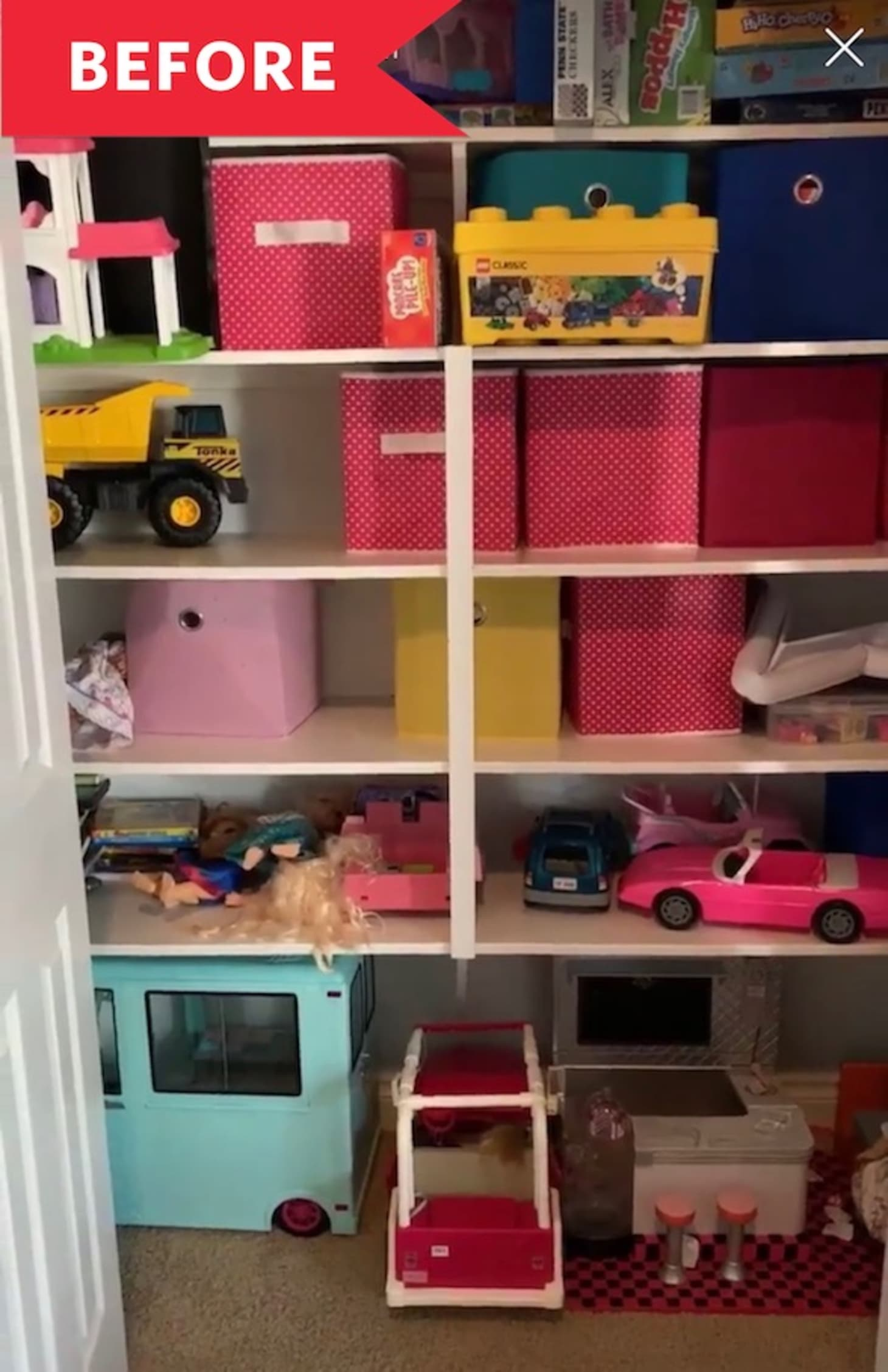 Before & After: A Kids' Toy Closet Made Over for $100 ...