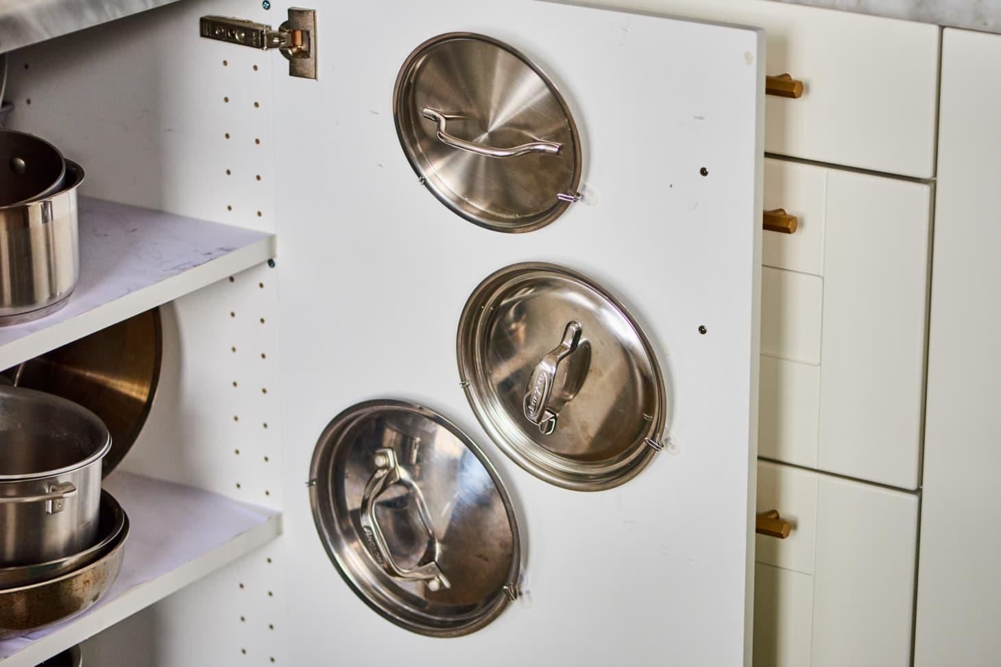 Pot Lid Command Hook Hack Cabinet Trick Kitchn