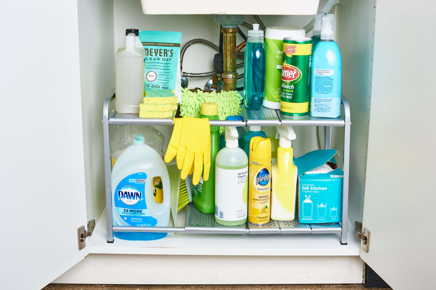 how to declutter kitchen by storing kitchen supplies