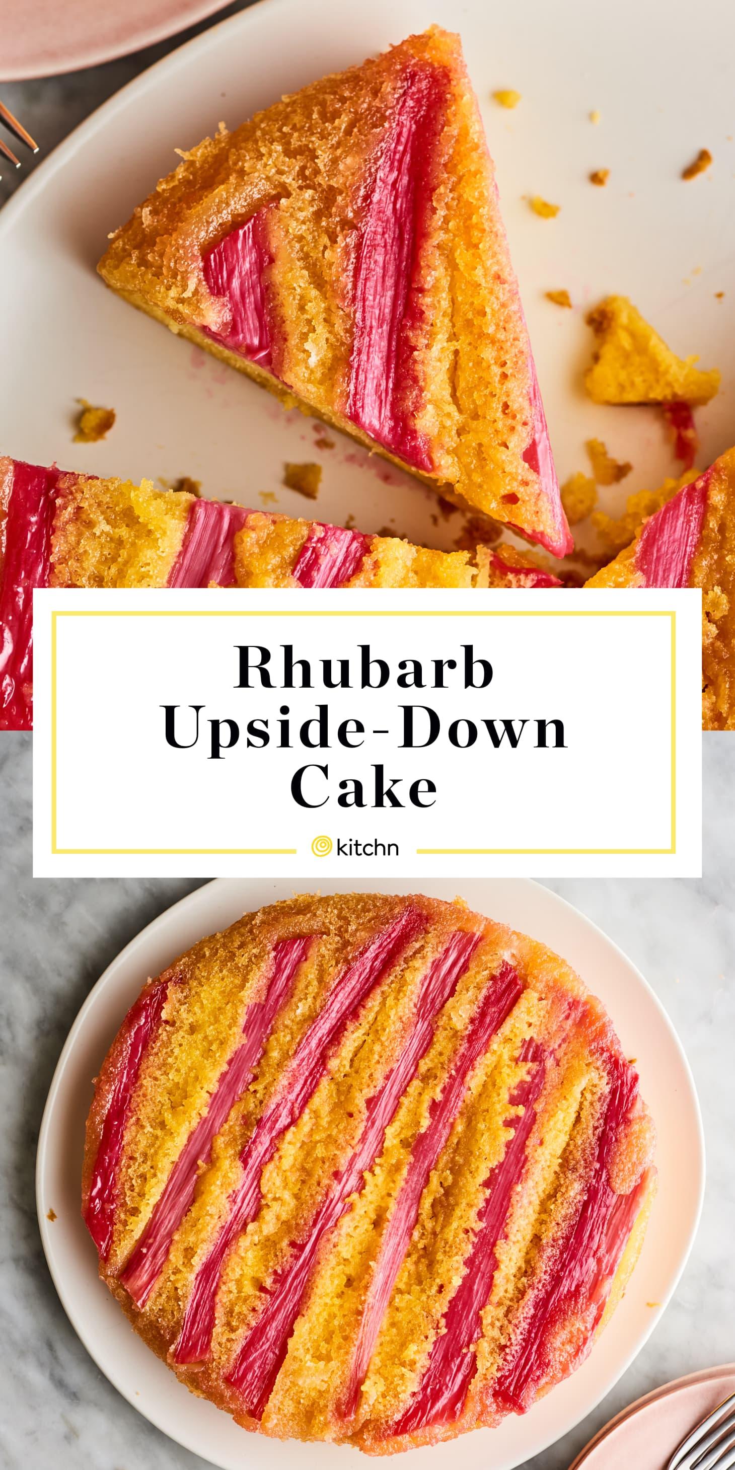 Cake Mix Rhubarb Upside Down Cake Recipe Kitchn