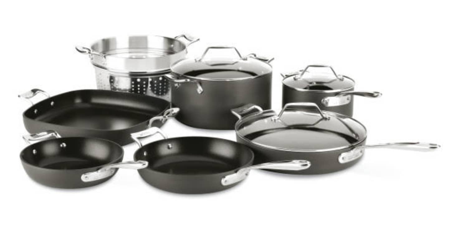 All Clad Essentials Nonstick Cookware Set Sale Kitchn