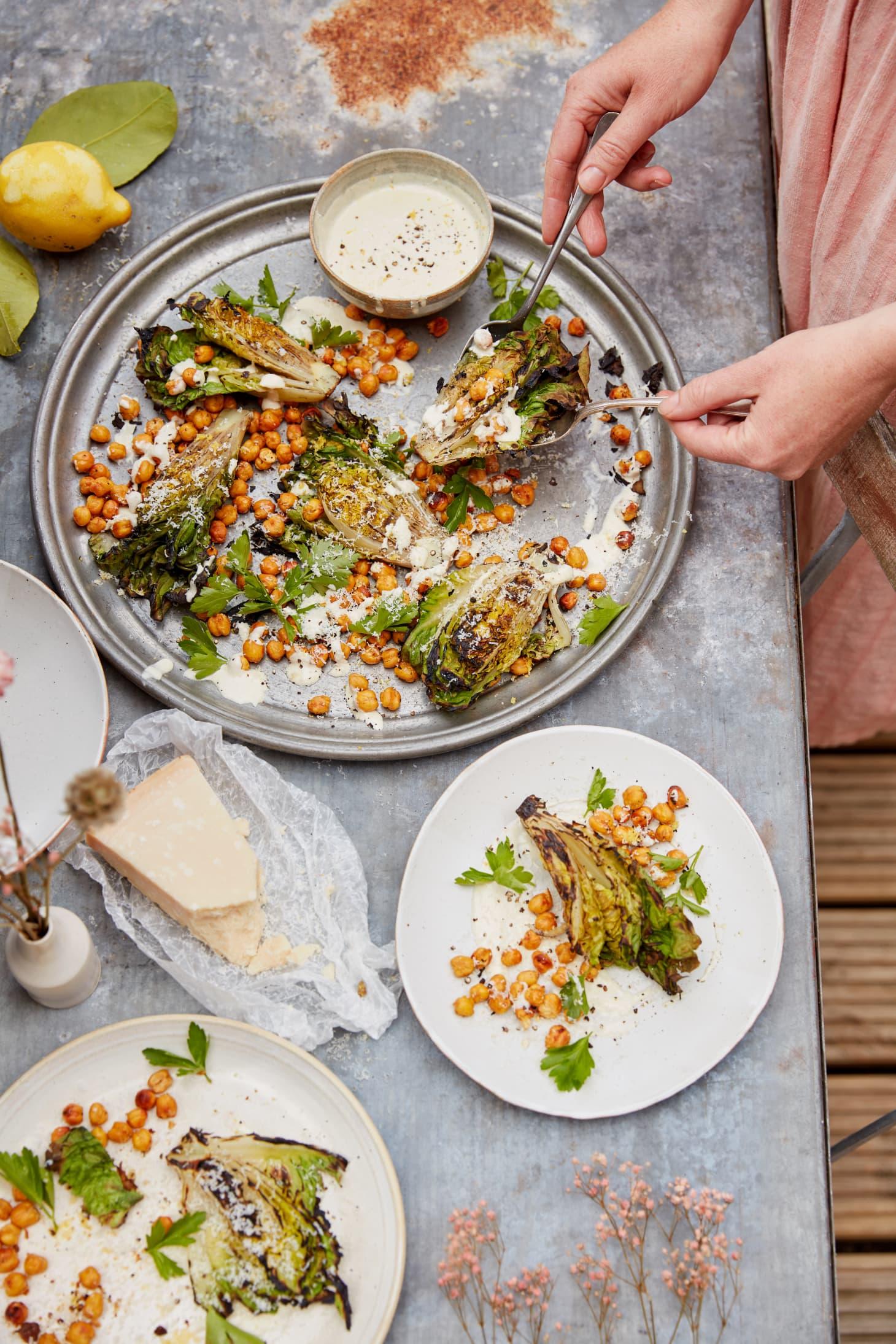 Anna Jones Chickpea Caesar Salad Grilled