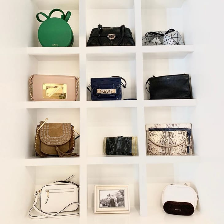 17 Purse Storage Ideas How To Store Purses Handbags Apartment Therapy